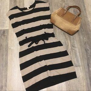 EUC BANANA REPUBLIC Sweater Dress Chunky Striped